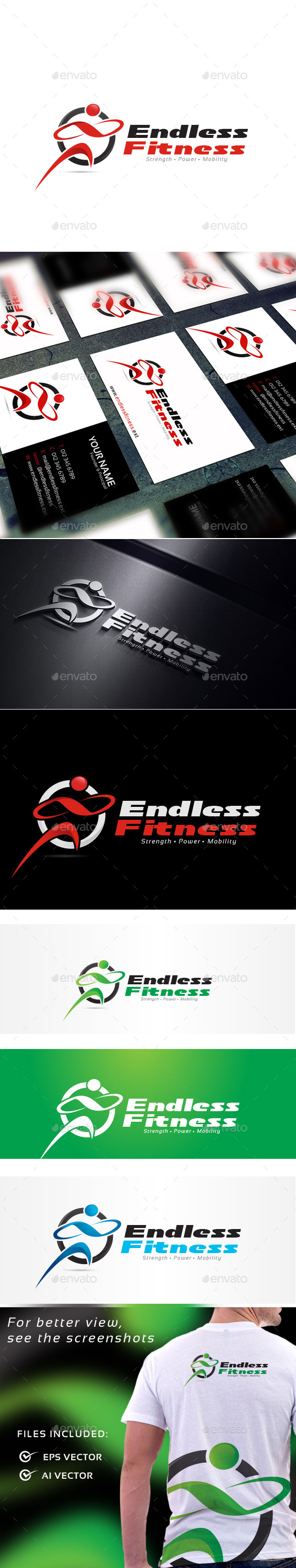 GraphicRiver Endless Fitness Logo Template 11020200