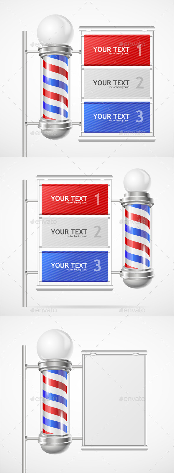 GraphicRiver Barber Shop Pole 11020326