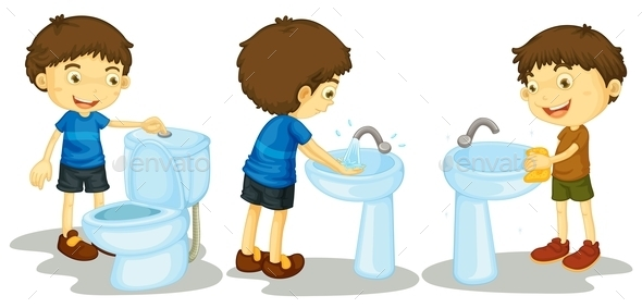 GraphicRiver Boy and Toilet 11020428