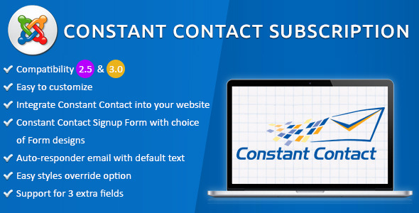 CodeCanyon Joomla Constant Contact Subscription 11020553