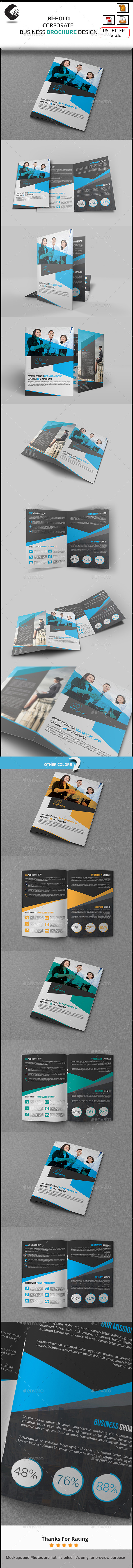 GraphicRiver Company Bi Fold Brochure Template 11020673