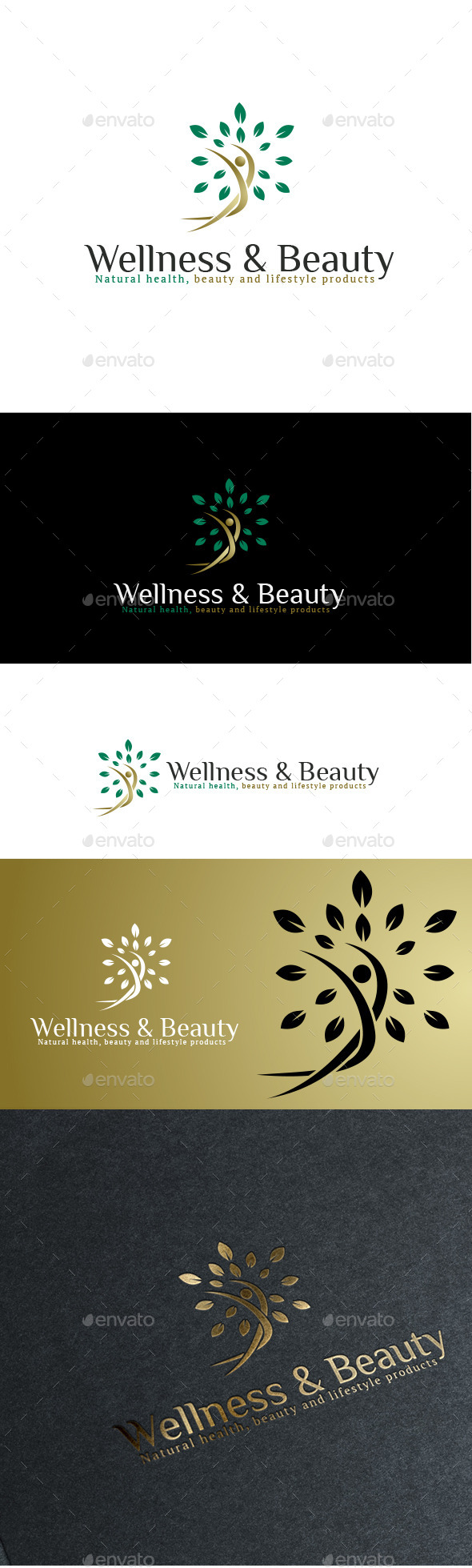 GraphicRiver Naturals Wellness & Beauty Logo 11020755