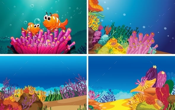 GraphicRiver Underwater Scenes 11020764