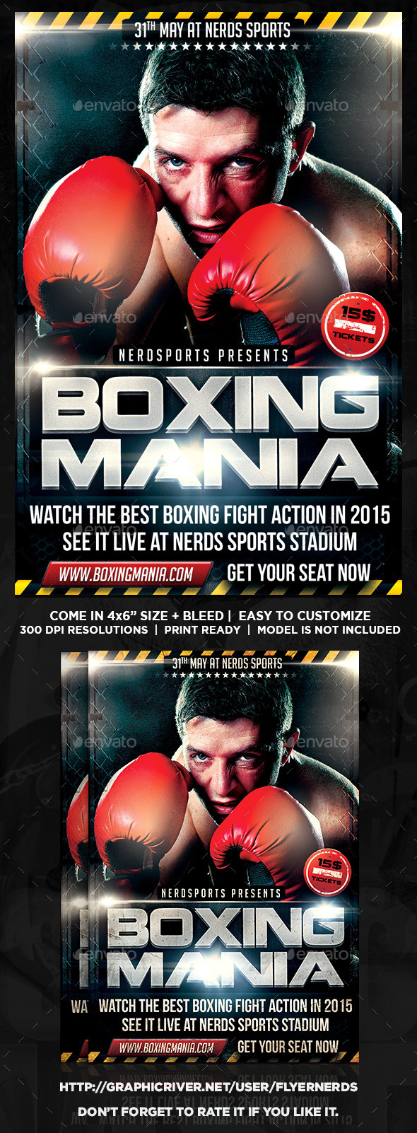 GraphicRiver Boxing Mania Sports Flyer 11020781