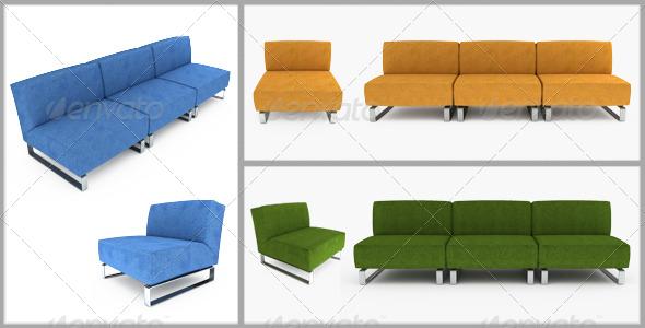 GraphicRiver Set of furniture 3D illustration 136573
