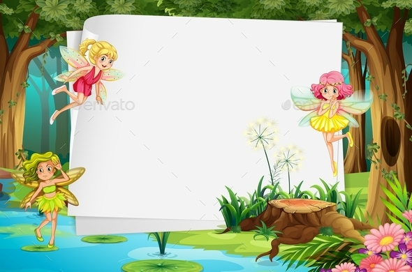 GraphicRiver Fairies and Sign 11020794