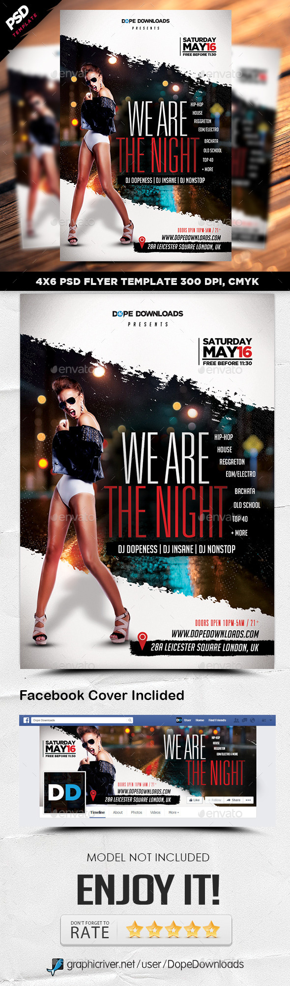 GraphicRiver We Are The Night Flyer Template 11020800