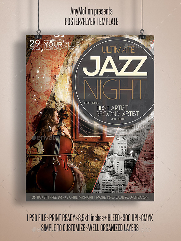 GraphicRiver Ultimate Jazz Night Flyer 11021380