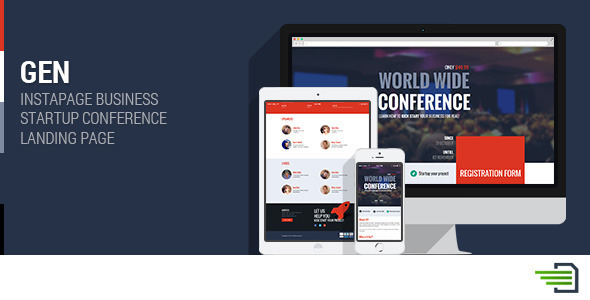 Gen - Business Startup Conference Landing Page