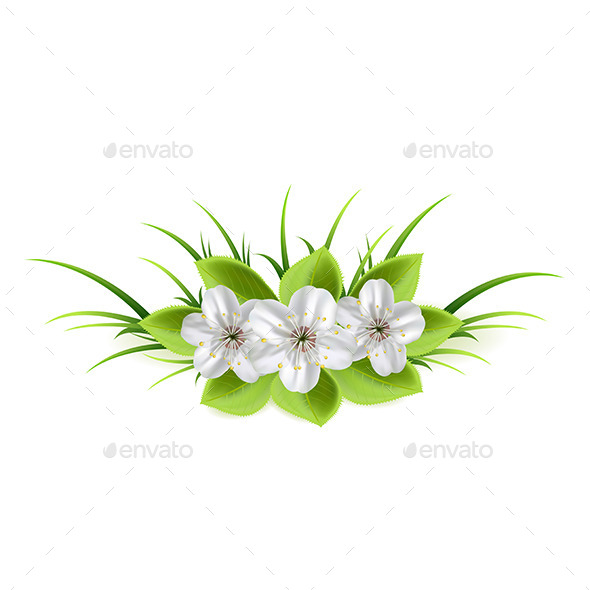GraphicRiver Flowers in a Grass 11021882