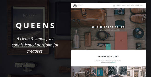 Queens - Creative One-page Drupal Theme