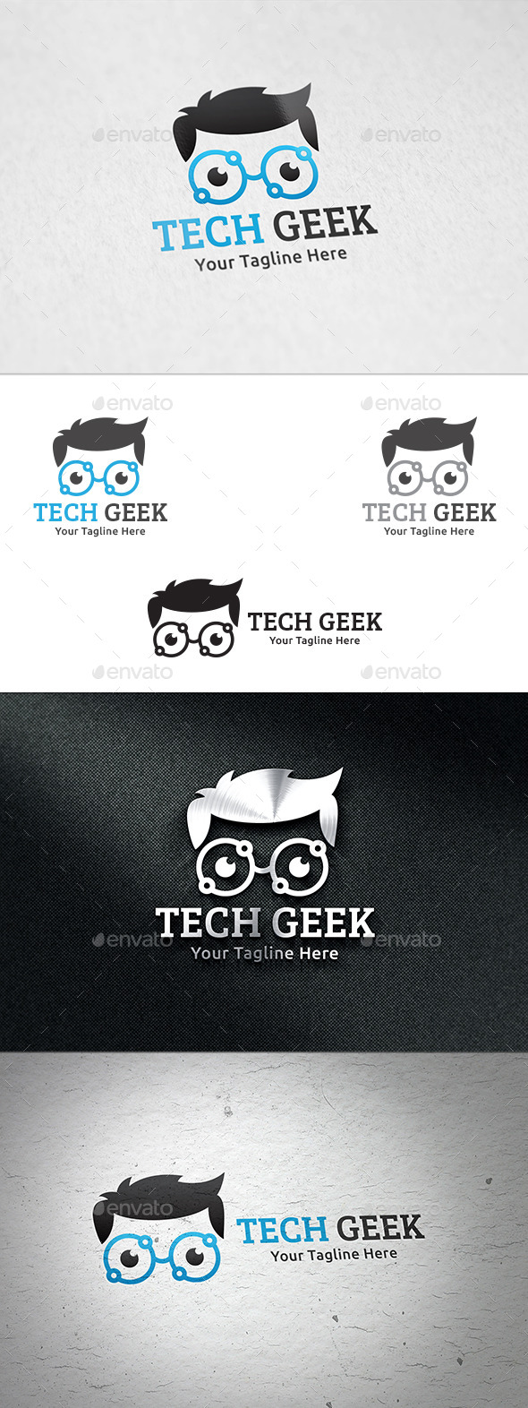GraphicRiver Tech Geek Logo Template 11022140