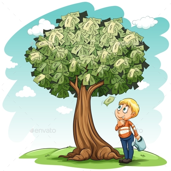 GraphicRiver Money Tree and a Young Boy 11022197