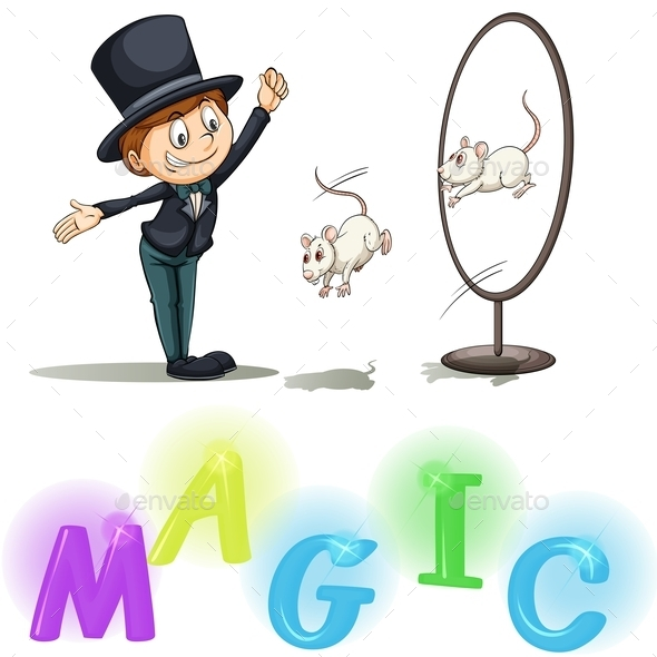 GraphicRiver Magician Showing His Tricks 11022294