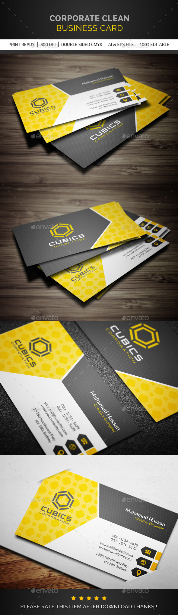 GraphicRiver Corporate Clean Business Card 11022504
