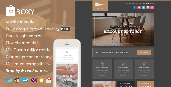 ThemeForest Boxy eCommerce Email Template & Builder Access 11022740