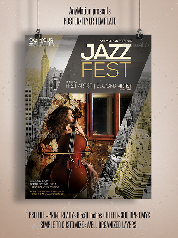 GraphicRiver Jazz Fest Flyer Print Template 11022807