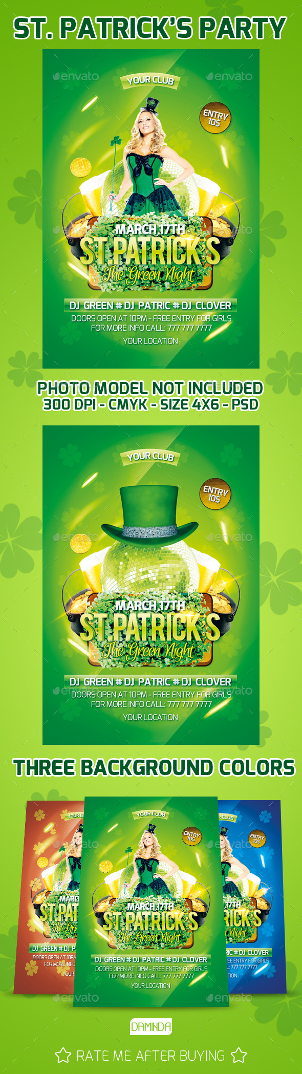 GraphicRiver St.Patricks Party 10691526