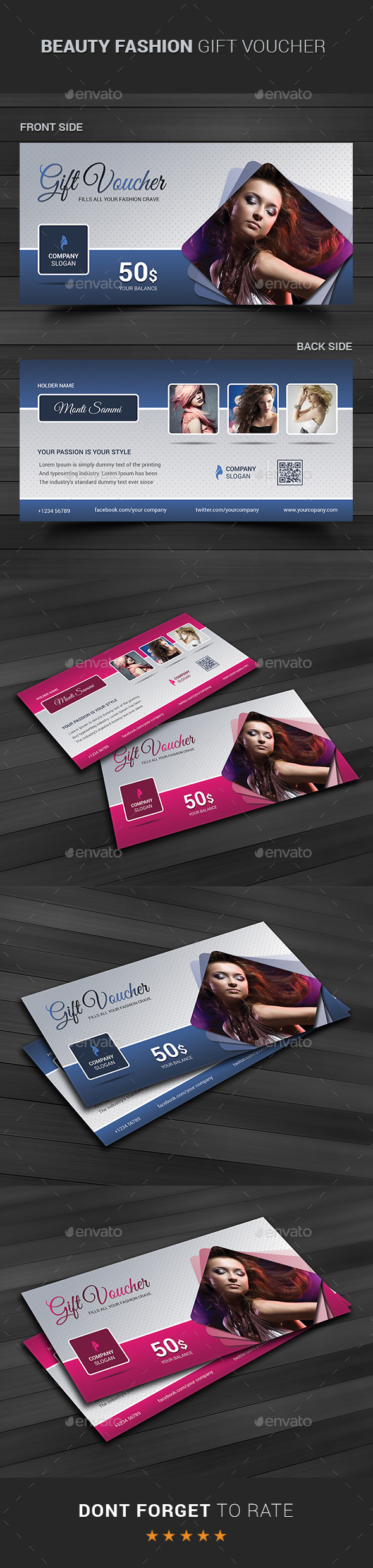 GraphicRiver Beauty Fashion Gift Voucher 11022967