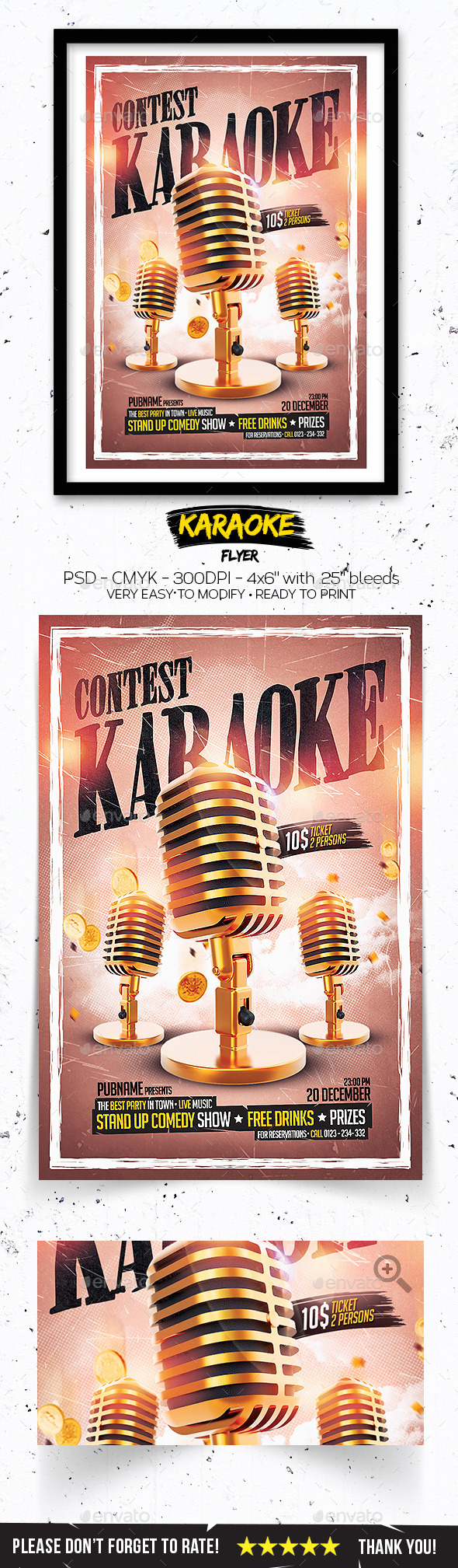 GraphicRiver Karaoke Contest Flyer 11023002