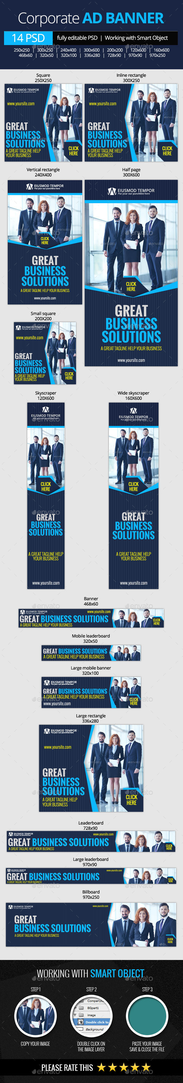 GraphicRiver Corporate and Business Web Banners 11023003