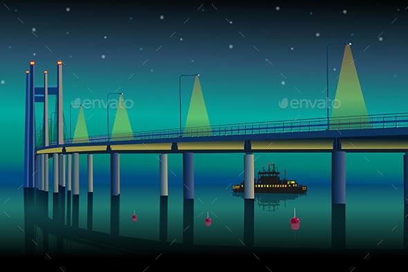 GraphicRiver Modern Bridge 11023013