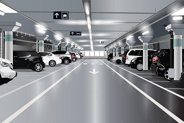 GraphicRiver Underground Parking 11023028