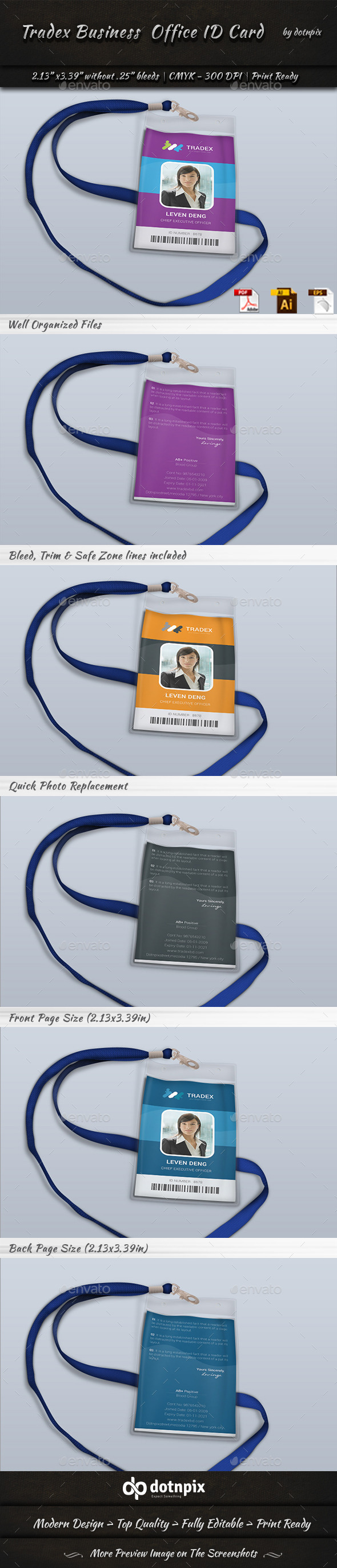 GraphicRiver Tradex Business Office ID Card 11023038