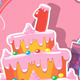 Baby Birthday Card - GraphicRiver Item for Sale
