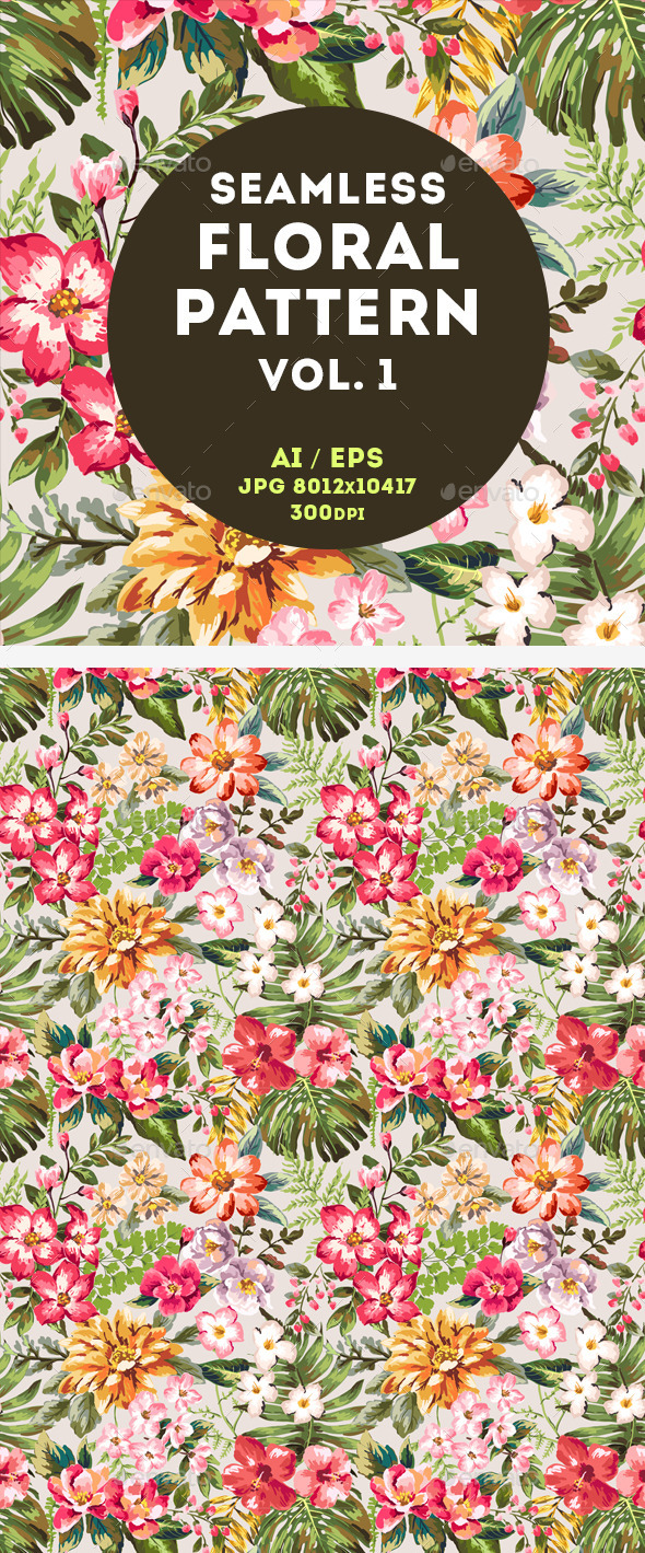 GraphicRiver Floral Pattern 11023117