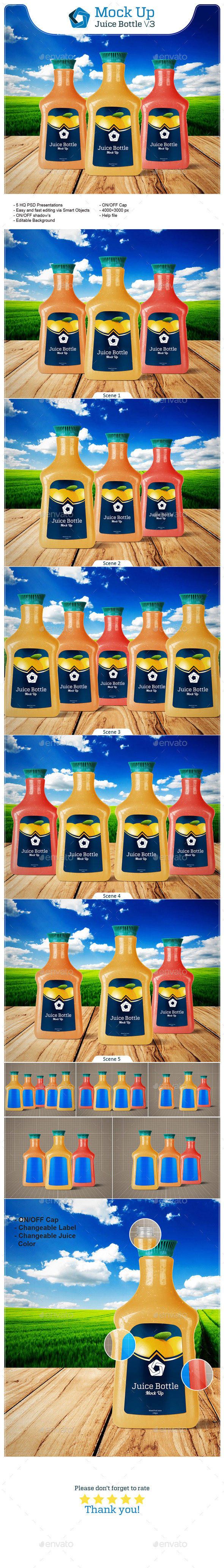 GraphicRiver Juice Bottle V.3 11023196