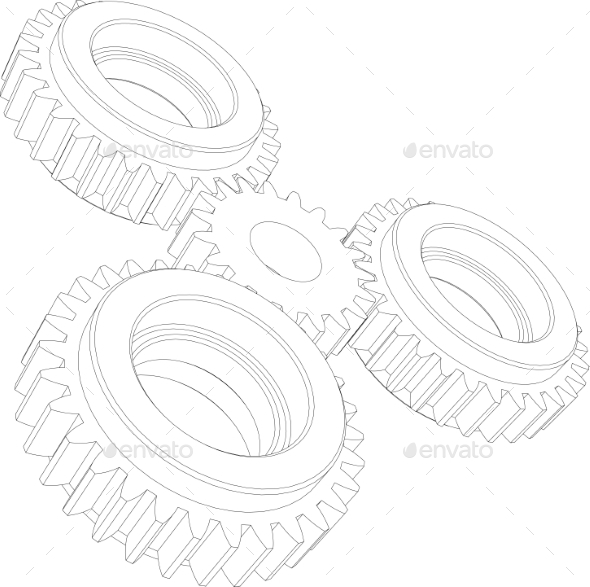 GraphicRiver Gears Perspective 11023282
