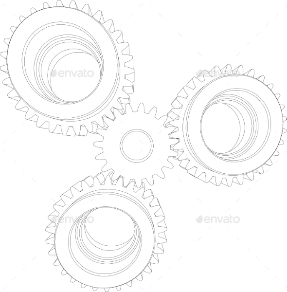 GraphicRiver Four Gears 11023292