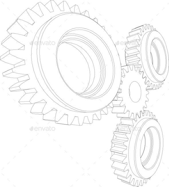 GraphicRiver Gears Perspective 11023296