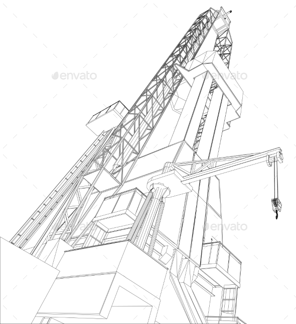 GraphicRiver Oil Rig 11023388