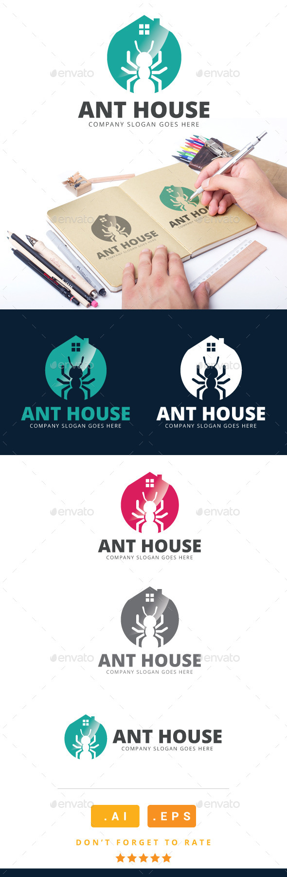 GraphicRiver Ant House Logo 11023390