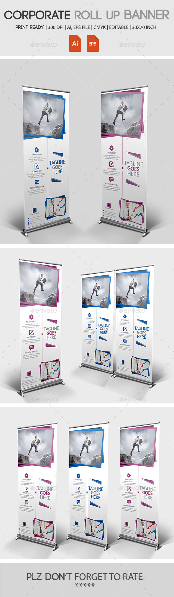 GraphicRiver Corporate Roll Up Banner 11023392