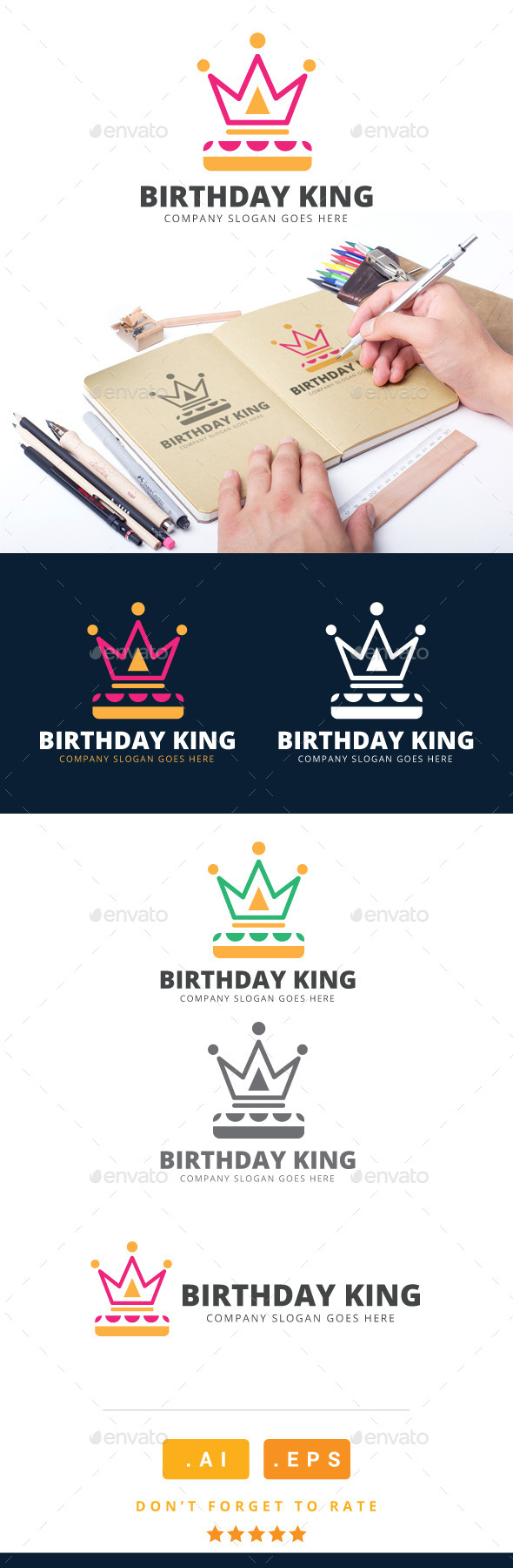 GraphicRiver Birthday King Logo 11023438