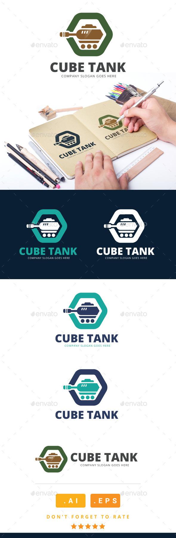 GraphicRiver Cube Tank Logo 11023471
