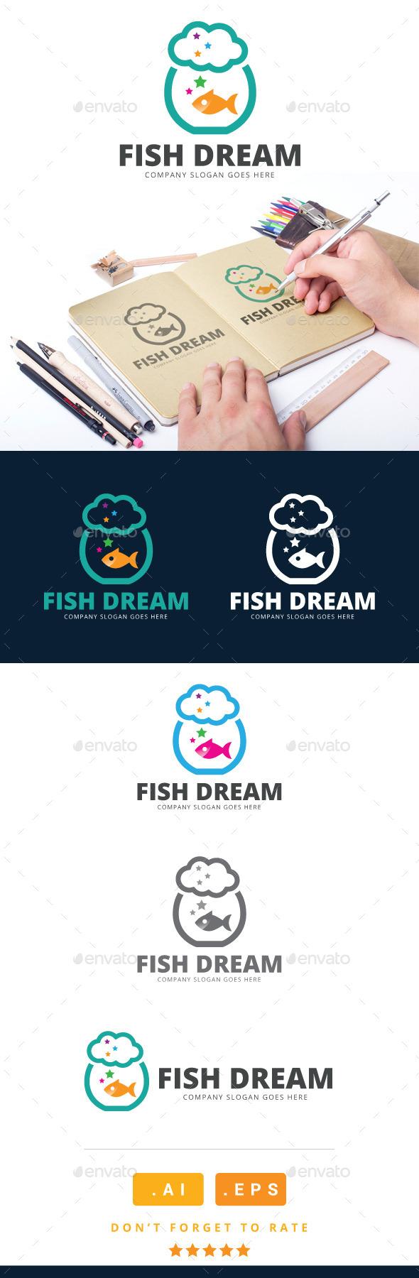 GraphicRiver Fish Dream Logo 11023497