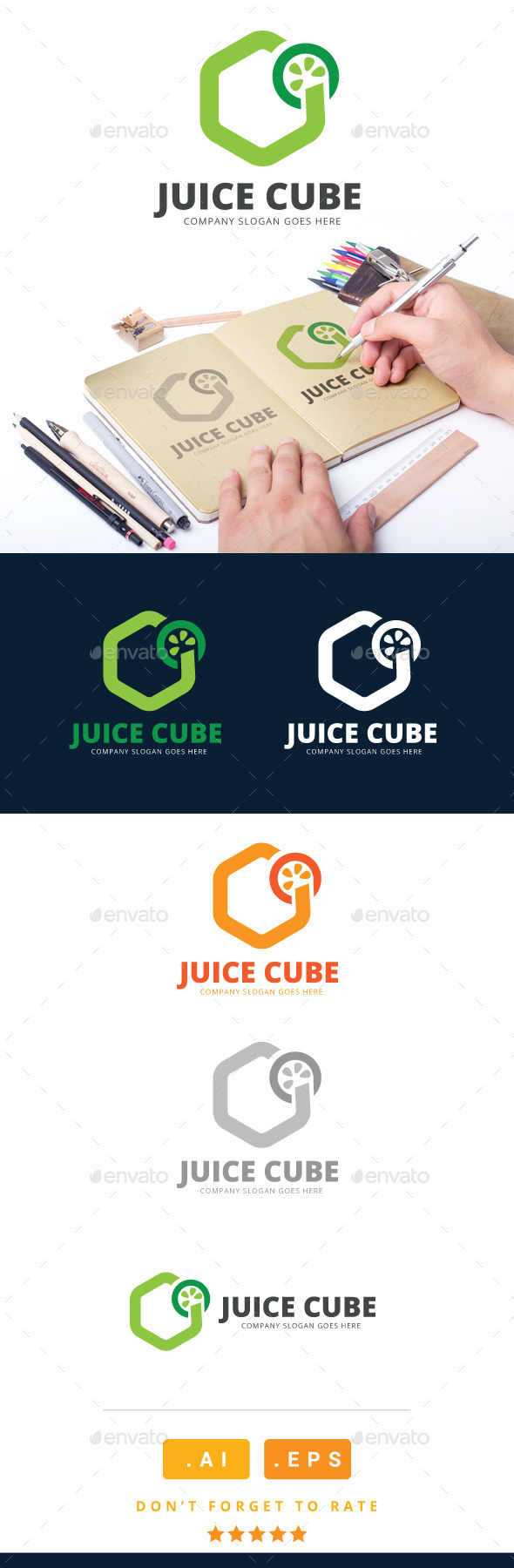 GraphicRiver Juice Cube Logo 11023559