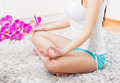 Yoga Woman Meditating Relaxing Healthy Lifestyle - PhotoDune Item for Sale