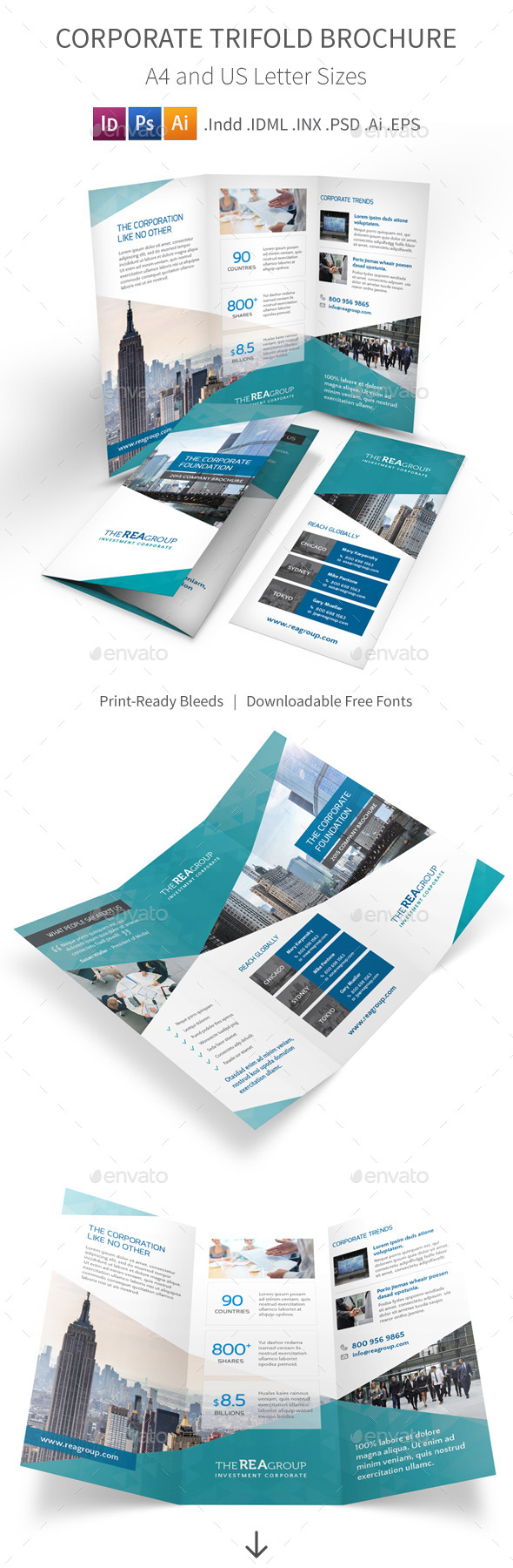 GraphicRiver Corporate Trifold Brochure 11023834