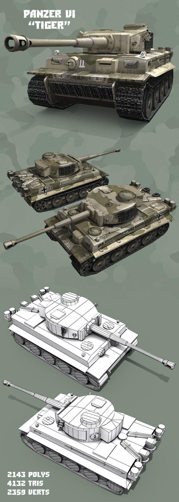 3DOcean Panzer VI Tiger 11023868