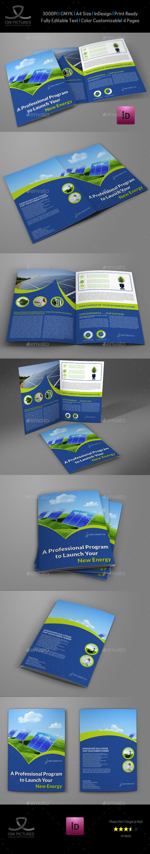 GraphicRiver Green Energy Company Brochure Bi-Fold Template V.2 11023941
