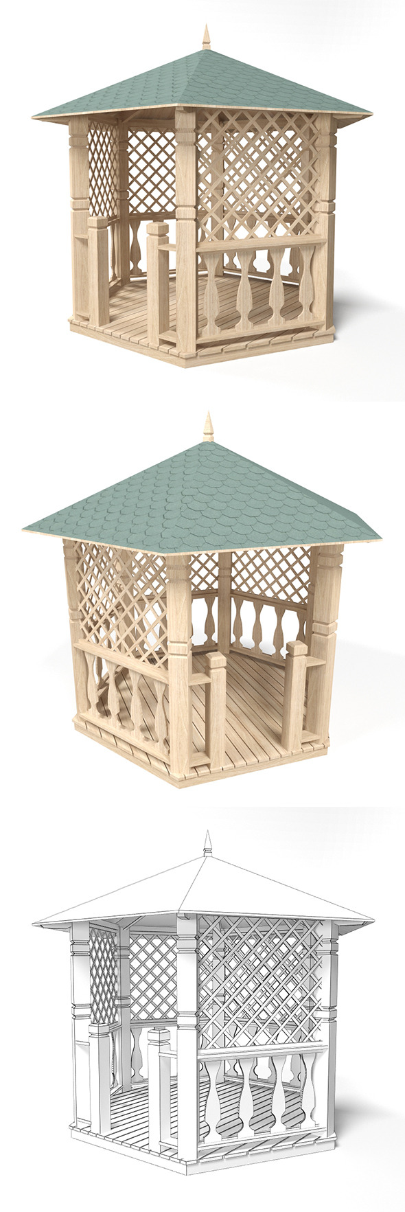 Gazebo 3 - 3DOcean Item for Sale