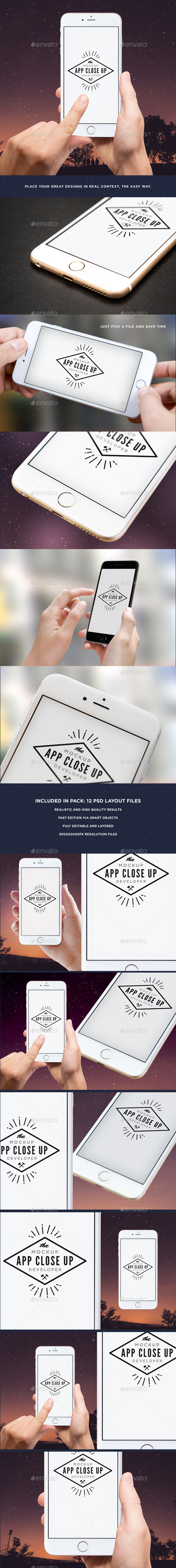 GraphicRiver App Phone 6 Close-Up Mock-Up 11024196