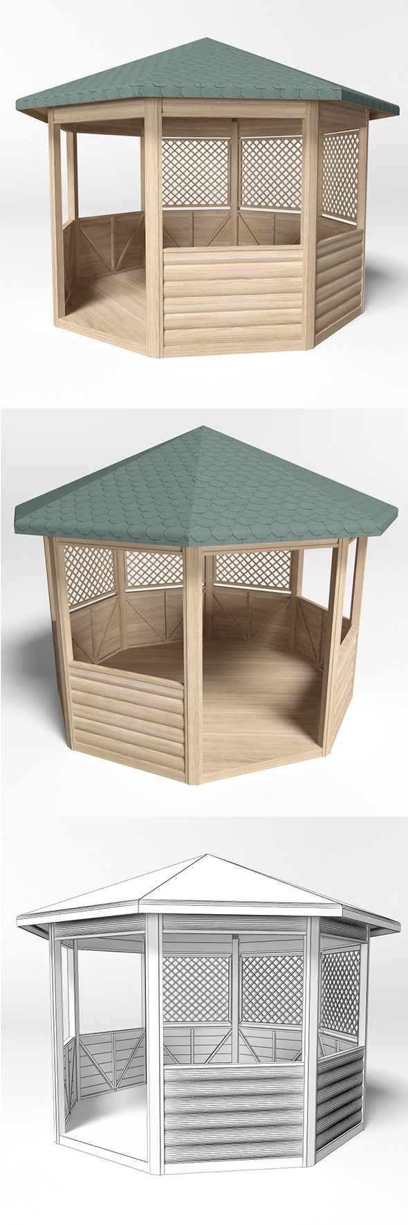 Gazebo 4 - 3DOcean Item for Sale