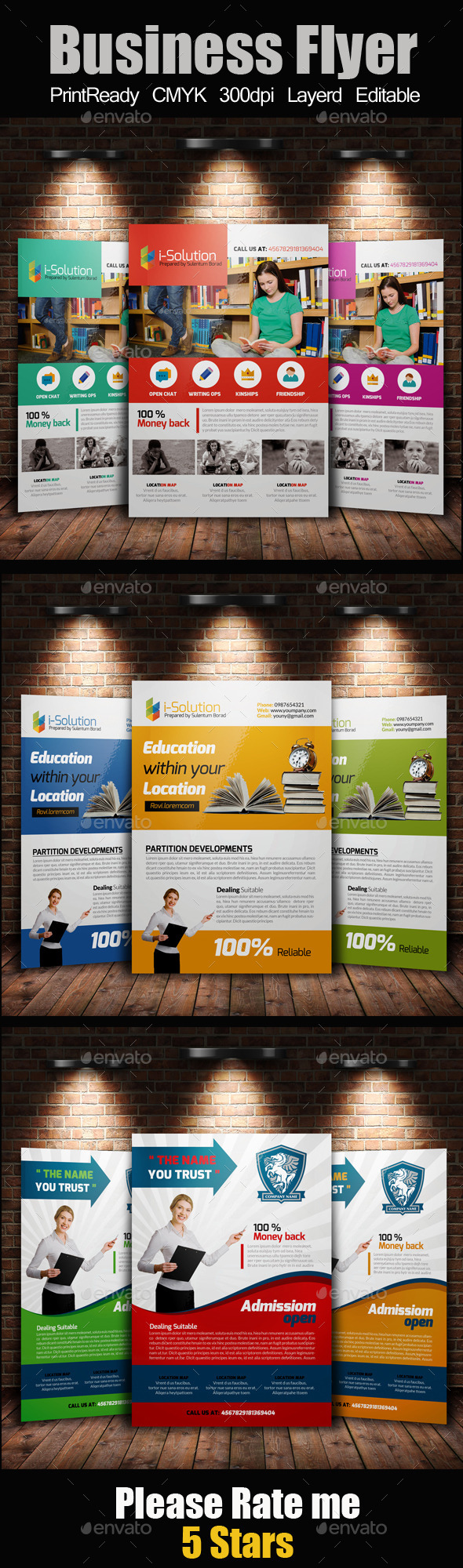 GraphicRiver Education Flyer Template Bundle 11024447