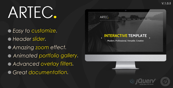 ThemeForest ARTEC Multipurpose Unbounce template 11024473